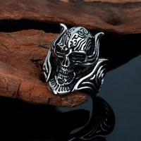 2015 online wholesale casting special skull head finger ring
