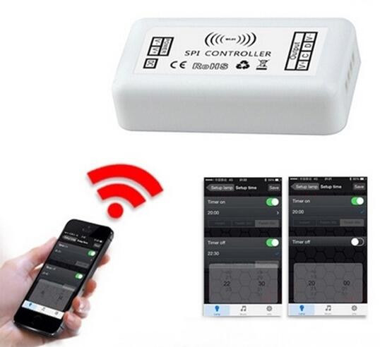 WIFI SPI led controller by IOS and Android System;DC12V input;used for led digital strip