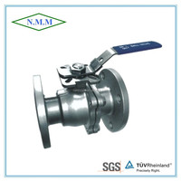Stainless Steel 2PC Flange Ball Valve, Full Bore, PN16, with ISO 5211