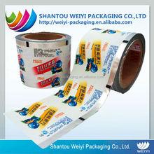 Recyclable printed scrap printed plastic film rolls