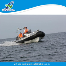 2014 newly hot-sale high speed inflatable pontoon fishing boat