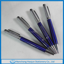 The customized Sliver and blue metal ball pen in hot