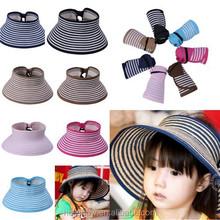 Parent-child Matching Stripe Bowknot Style Children Beach Straw Hat