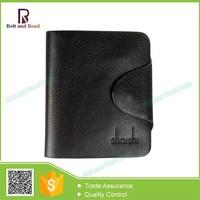 Stock Smart Men Genuine Leather Wallet Short Branded Wallet for Men