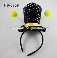 Funny top hat headband/carnival party supplies