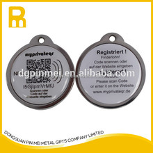 Metal NFC pet tags with qr code and URL / NFC pet id tags for pet collar