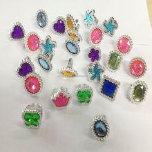 Shaped gem stone rings/cheaper plastic ring toys