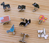 hot-selling creative pet cuff link,lovely custom metal cufflink