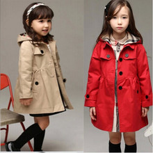 HFR-R-175 Wholesale autumn and winter collection girls long coat with removable hood