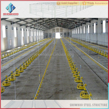 low cost China different types of steel structure poultry house for chicken house