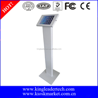 Lockable anti-thef tablet display floor stand for trade show display tablet stand