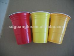 16 oz colorful PS disposable plastic cups and mugs