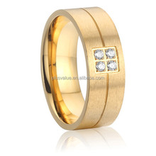 latest 18k gold plated 316L stainless steel jewelry fashion wedding band finger Ring designs for men and women