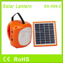 Rechargeable solar camping lantern with USB for phone charging