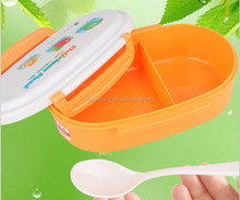 Plastic PP lunch box microwave preservation box Two sides clasp lunch box Single two
