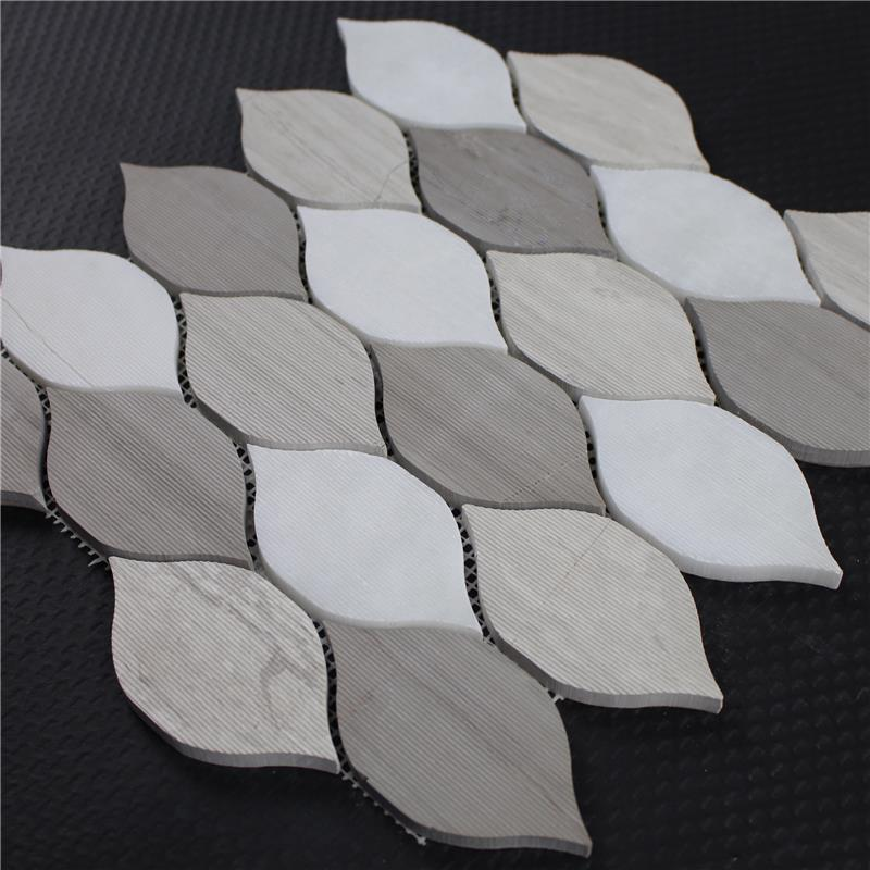 leaf shape mosaic tile