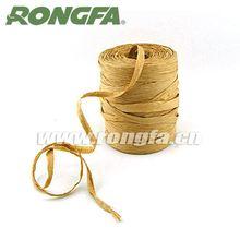plant natural paper raffia ribbon bow