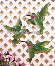 3asst Framed Hummingbird Metal Hanging Vintage Interior wall art Home Decoration