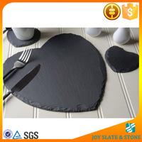 Heart shape slate plates for hotel
