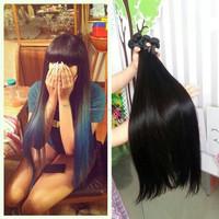 Alibaba wholesale stock 100% human hair long straight virgin brazilian true glory hair