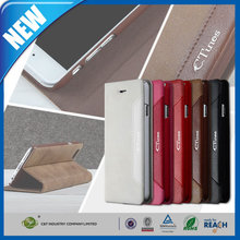 C&T Wholesale New Luxury Phone Accessories brown leather case for iphone6 plus