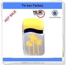 Rectangle sliding tin box with CMYK printing, tin packing