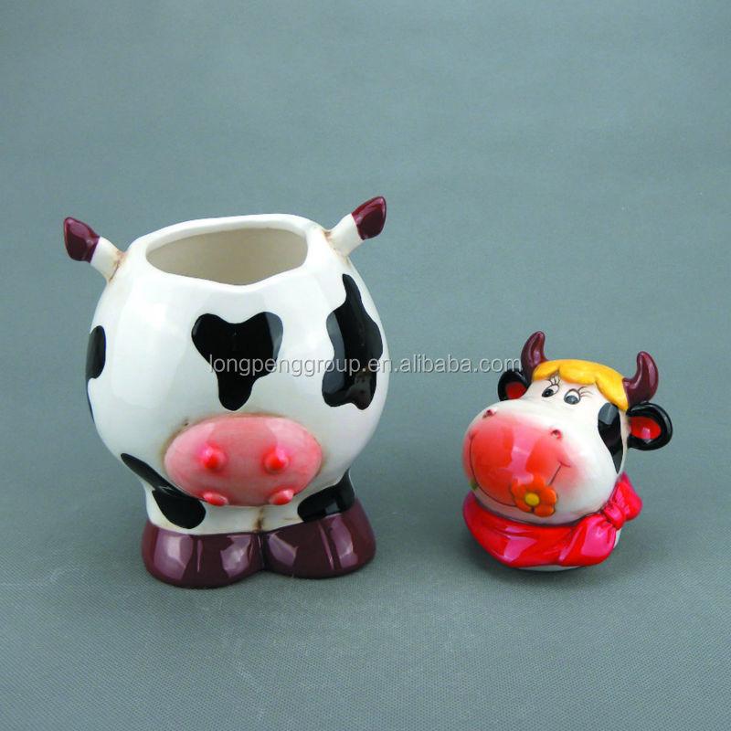 White Animal Cow Shape Ceramic Cookie Jar Buy Ceramic
