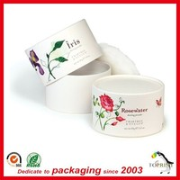 Cosmetic Fanshional skin care luxury packaging boxes paper tube round container for rose water bottle