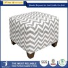 Chevron contemporary design fabric covered footstool ottoman