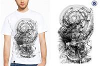 Cheap Price Rubber Print On T-shirt