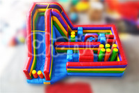 Commercial Grade Rainbow Obstacle Course Inflatable