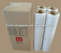 ldpe/pe manual clear/black stretch film rolls for pallet package
