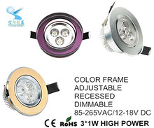 competitive price recessed 3w led downlight high demand products in market