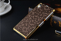 Alibaba China supplier gold planting football lines hard cover case for Sony xperia Z1 L39h