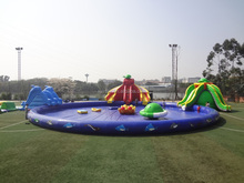 Popular inflatable water park,inflatable floating water sport,giant inflatable water game