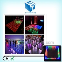 Hot sale led dance floor mirror 3d led dance floor with time tunnel effect