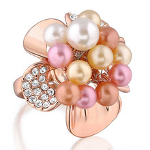 chunky gold artificial flower candle antique pearl rings