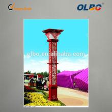 jardín al aire libre del parque decorativa led poste de alumbrado público