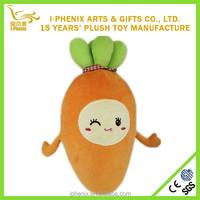 Children educational toy plush fruit and vegetables custom plush carrot toy