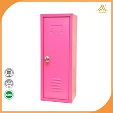 Pink lovely small metal locker for kids living room furniture lockers