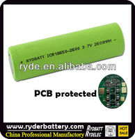 3.7v Li-ion 18650 imr cell 2600mAh Battery