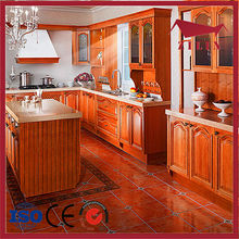 New design high quality cheap price of beech wood kitchen cabinet