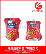 Alps fruit juice packaging bag with cap