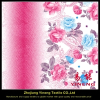 Custom recycled printing woven polyester microfiber fabric price per meter