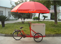 fashion Single speed ice cream cargo bike with coaster brake Ice Cream Tricycle
