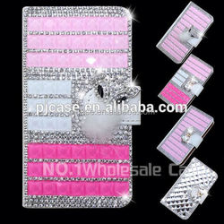 high quality wallet style diamond crystal flip case cover for blackberry Leap,diamond bling bling case for blackberry Leap