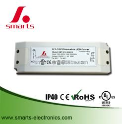 0-10v dimming 12v 30w waterproof led panel light driver ip20