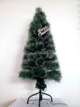 High Quality Pine Needle Snowing Optic Fiber PVC Artificial Christmas Tree