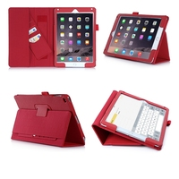 China supplier wholesale price pu tablet case for ipad air 2 with several standing angles