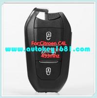 MS smart card remote control key 433mhz for citroen C4L car key